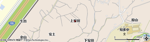 愛知県知多市日長(上安田)周辺の地図