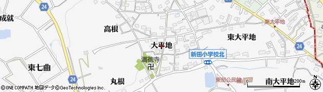 愛知県知多市八幡(大平地)周辺の地図