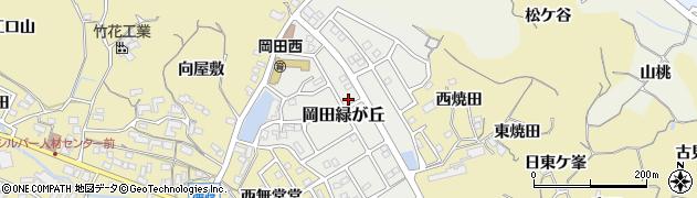 愛知県知多市岡田緑が丘周辺の地図