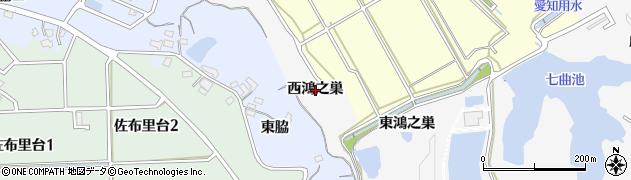 愛知県知多市八幡(西鴻之巣)周辺の地図