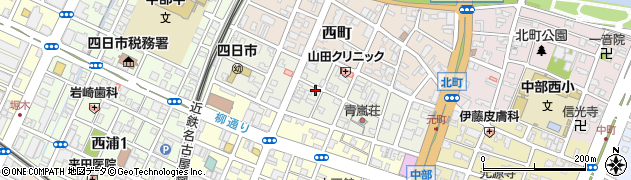 三重県四日市市元町周辺の地図