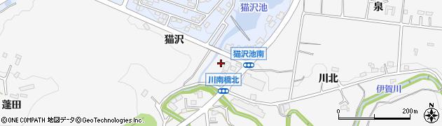 愛知県岡崎市箱柳町(猫沢)周辺の地図