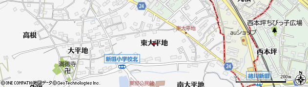 愛知県知多市八幡(東大平地)周辺の地図