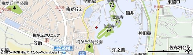 愛知県知多市佐布里(西之脇)周辺の地図