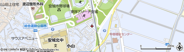 愛知県安城市新田町(新定山)周辺の地図