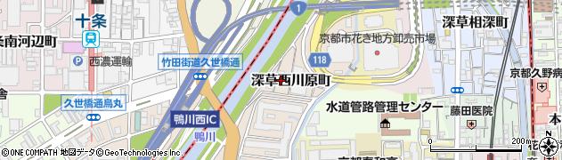 京都府京都市伏見区深草西川原町周辺の地図