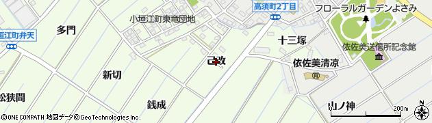 愛知県刈谷市小垣江町(己改)周辺の地図