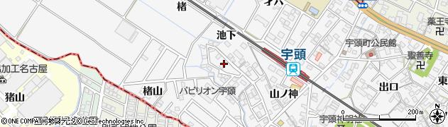 愛知県岡崎市宇頭町(池下)周辺の地図