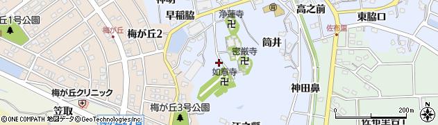愛知県知多市佐布里(地蔵脇)周辺の地図