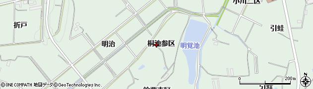 愛知県知多郡東浦町緒川桐池参区周辺の地図