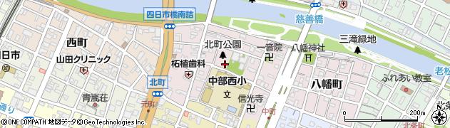 三重県四日市市北町周辺の地図