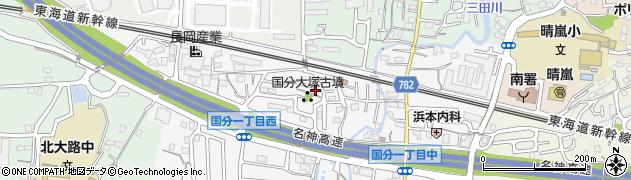 滋賀県大津市国分周辺の地図