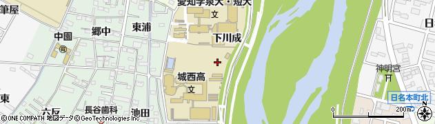 愛知県岡崎市舳越町(下川成)周辺の地図