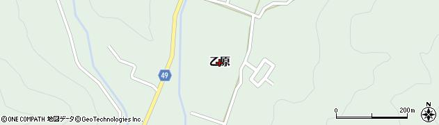 兵庫県三田市乙原周辺の地図