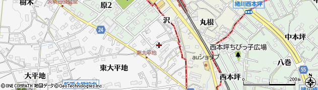 愛知県知多市八幡(勘右エ門沢)周辺の地図