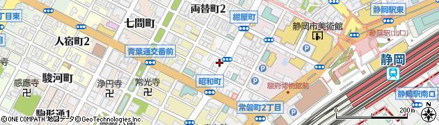 静岡県静岡市葵区昭和町周辺の地図