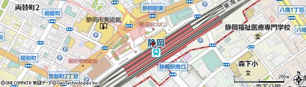 静岡県静岡市葵区黒金町周辺の地図