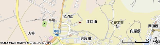 愛知県知多市岡田(江口山)周辺の地図