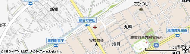 愛知県安城市池浦町(境目)周辺の地図