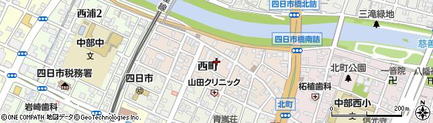 三重県四日市市西町周辺の地図