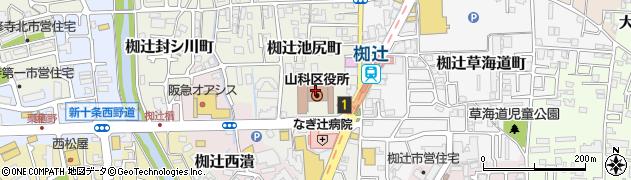 京都府京都市山科区周辺の地図