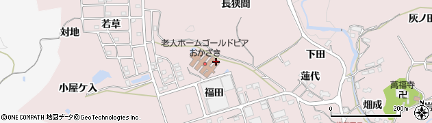 愛知県岡崎市田口町周辺の地図