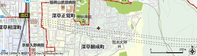 稲荷山トンネル周辺の地図