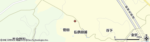 愛知県岡崎市岩中町(菅田)周辺の地図