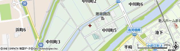 愛知県刈谷市中川町周辺の地図