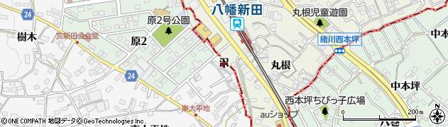 愛知県知多市八幡(沢)周辺の地図