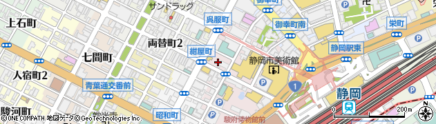 コート・ダジュール 静岡両替町店周辺の地図