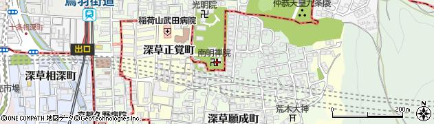 南明院周辺の地図
