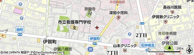 愛知県岡崎市井田町(寺前)周辺の地図
