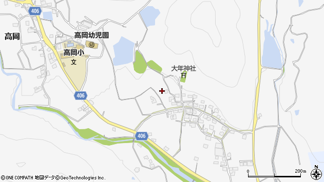 〒679-2217 兵庫県神崎郡福崎町高岡の地図