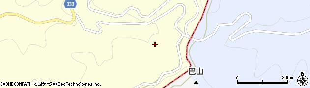 愛知県岡崎市千万町町(巴山)周辺の地図