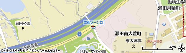 文化ゾーン口周辺の地図