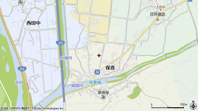 〒679-2312 兵庫県神崎郡市川町保喜の地図