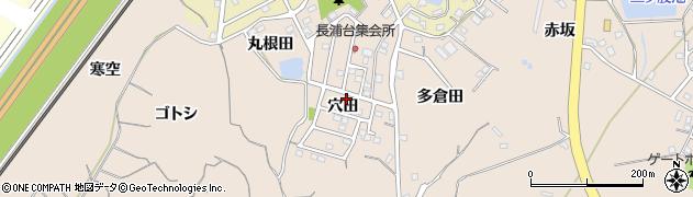 愛知県知多市日長(穴田)周辺の地図