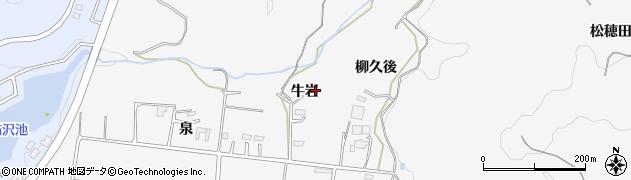 愛知県岡崎市箱柳町牛岩の地図 住所一覧検索|地図マピオン