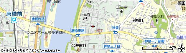 滋賀県大津市瀬田周辺の地図