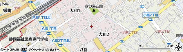 静岡県静岡市駿河区大和周辺の地図