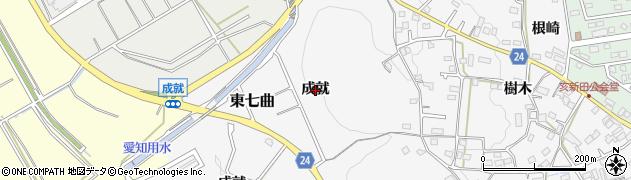 愛知県知多市八幡(成就)周辺の地図