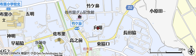 愛知県知多市佐布里(向畑)周辺の地図