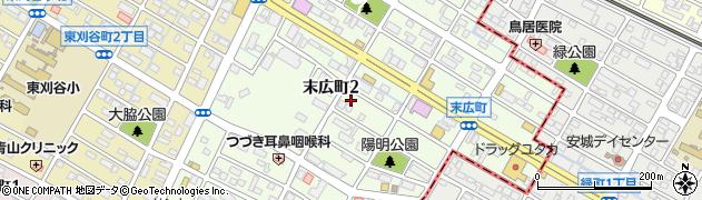 愛知県刈谷市末広町周辺の地図