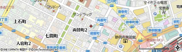 ナカミヤ周辺の地図