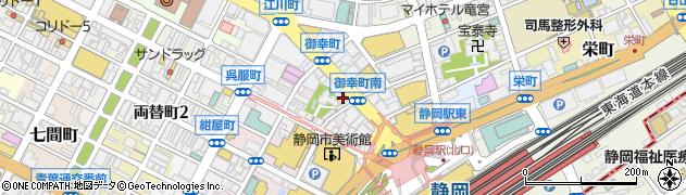 京の町に夢が咲く静岡駅前店周辺の地図