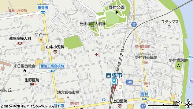 〒677-0054 兵庫県西脇市野村町の地図