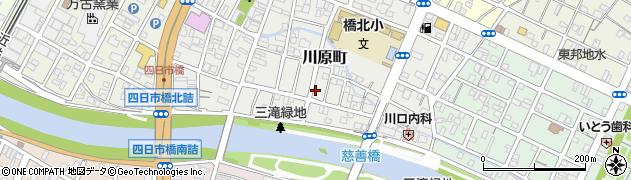 三重県四日市市川原町周辺の地図