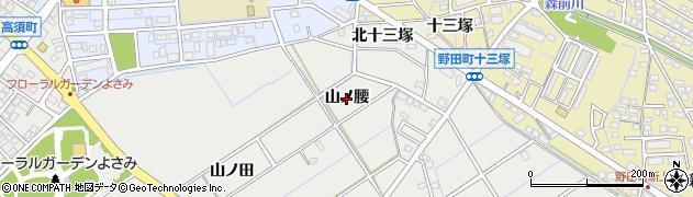 愛知県刈谷市半城土町(山ノ腰)周辺の地図