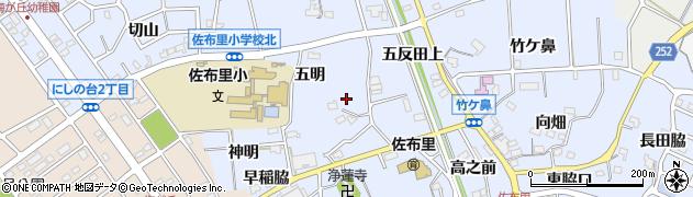 愛知県知多市佐布里(西之脇口)周辺の地図